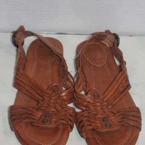 Frye Hurache Brown Leather Sandals Size 8.5 New